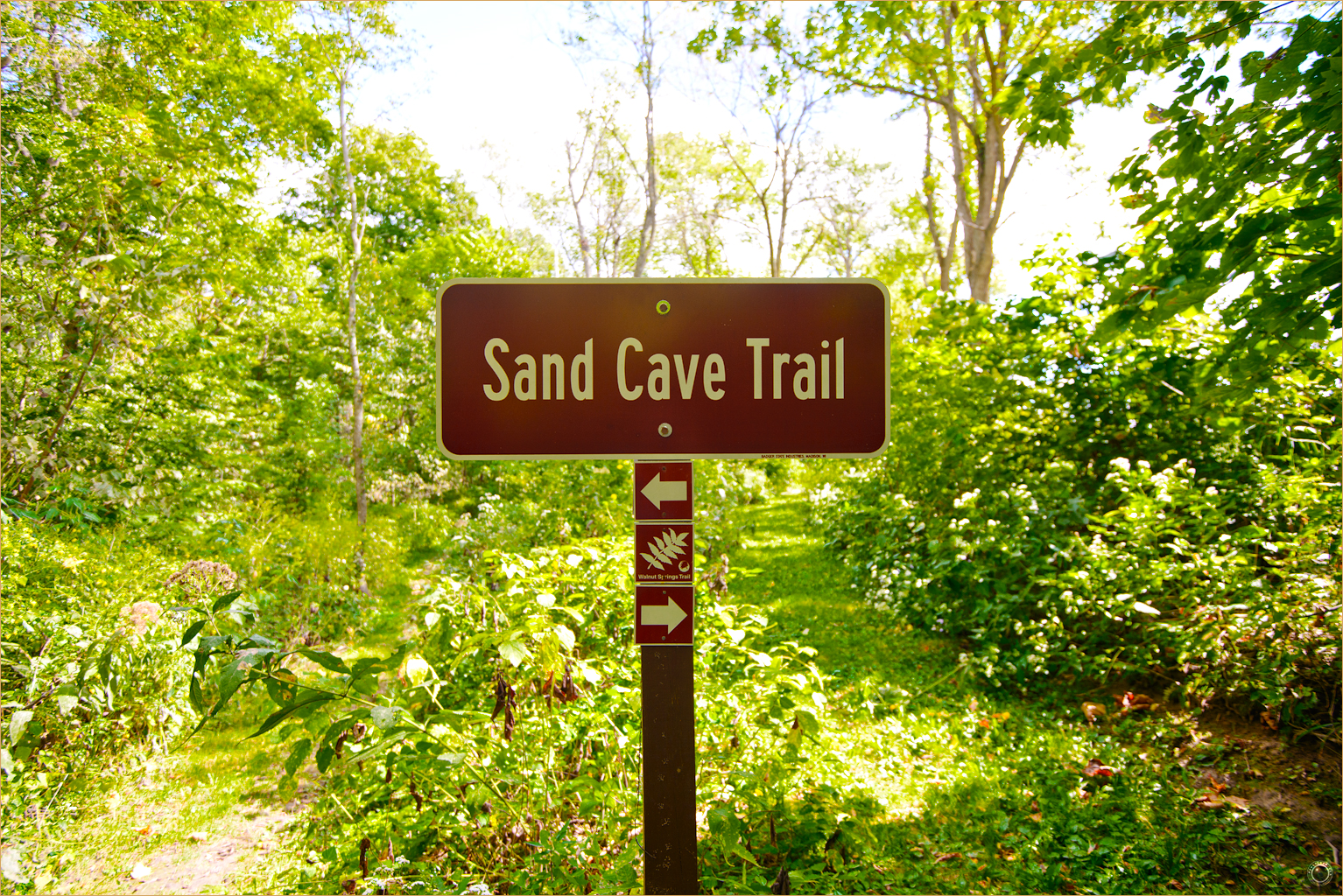 109 Wyalusing State Park Wisconsin Sand Cave Trail Sign