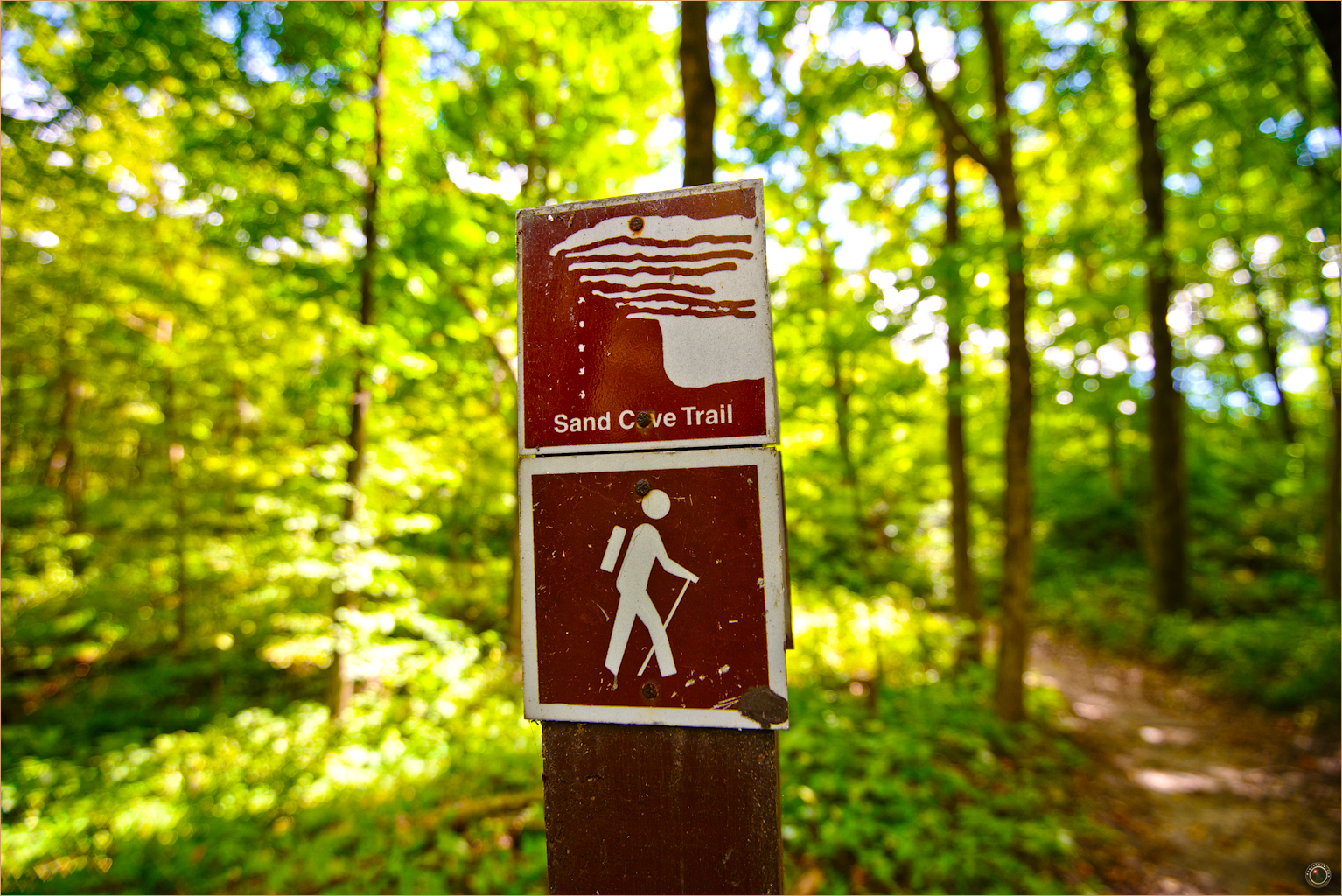 110 Wyalusing State Park Wisconsin Sand Cave Trail Sign