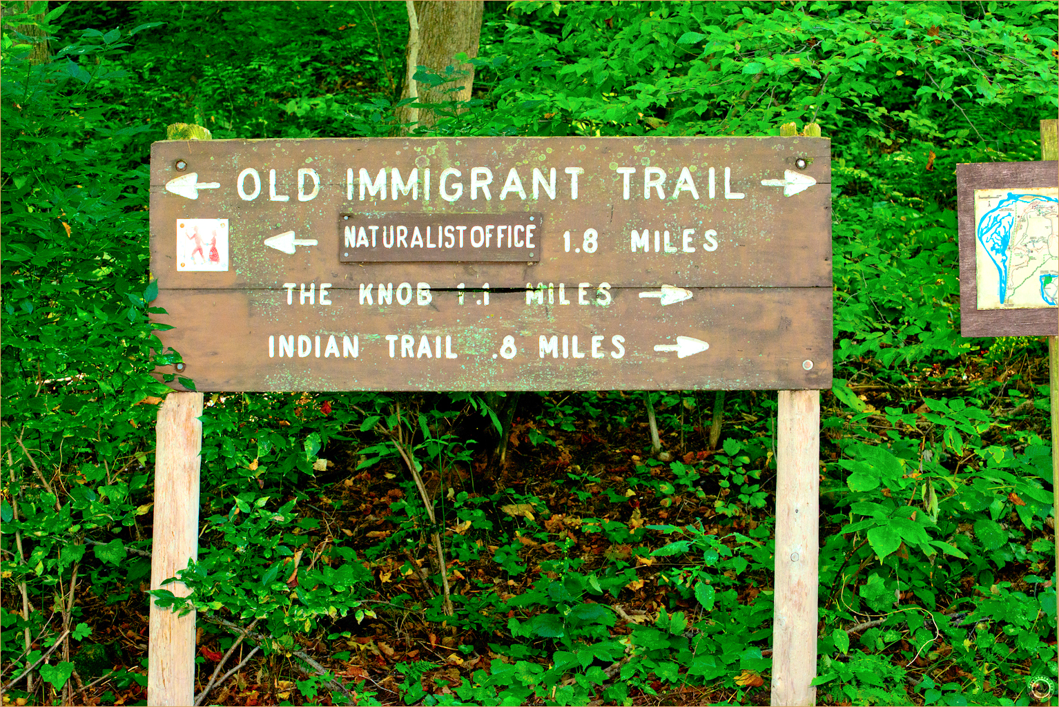 12 Wyalusing State Park Wisconsin Old Immigrant Trail Sign