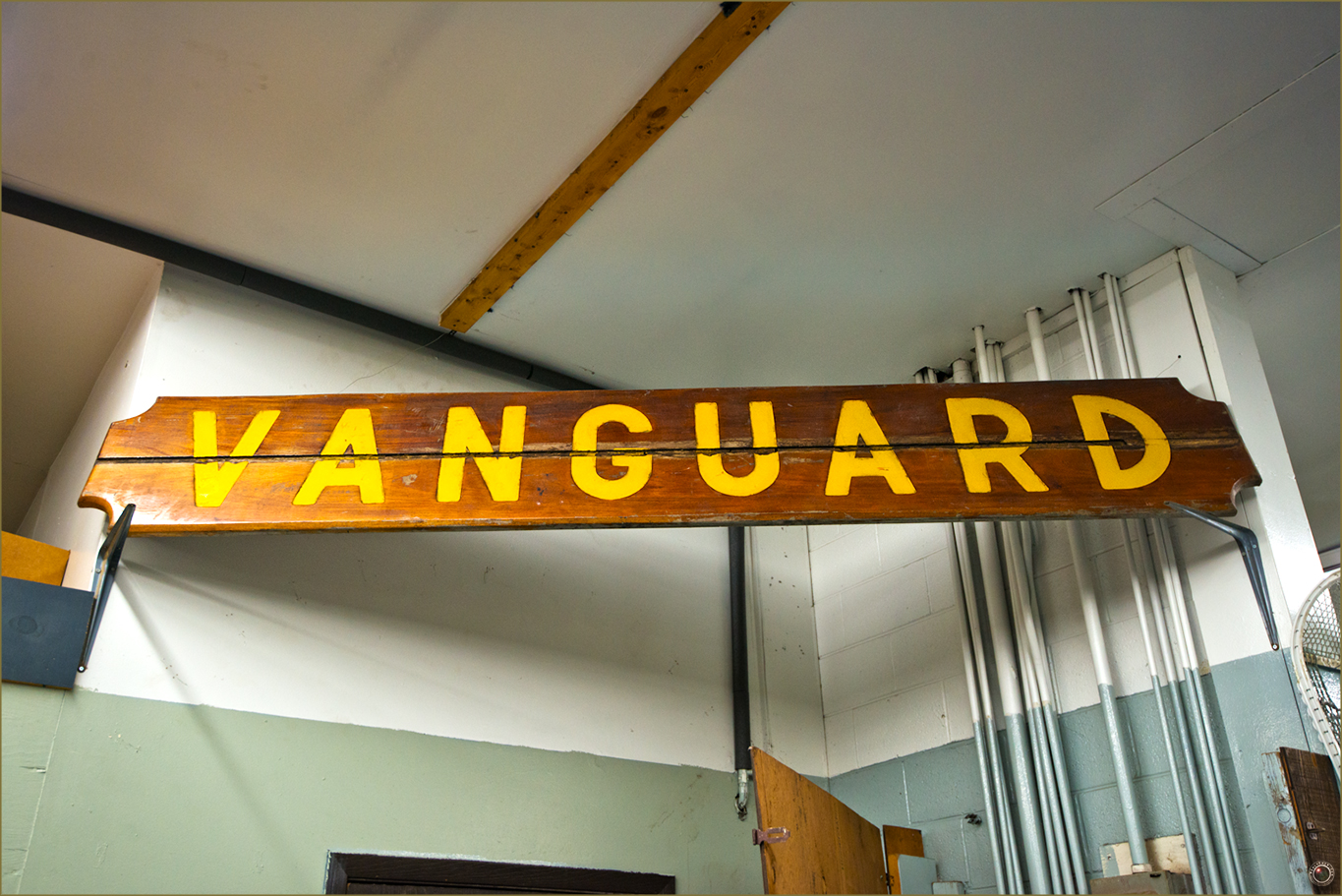 132 Russell Military Museum Vanguard Sign