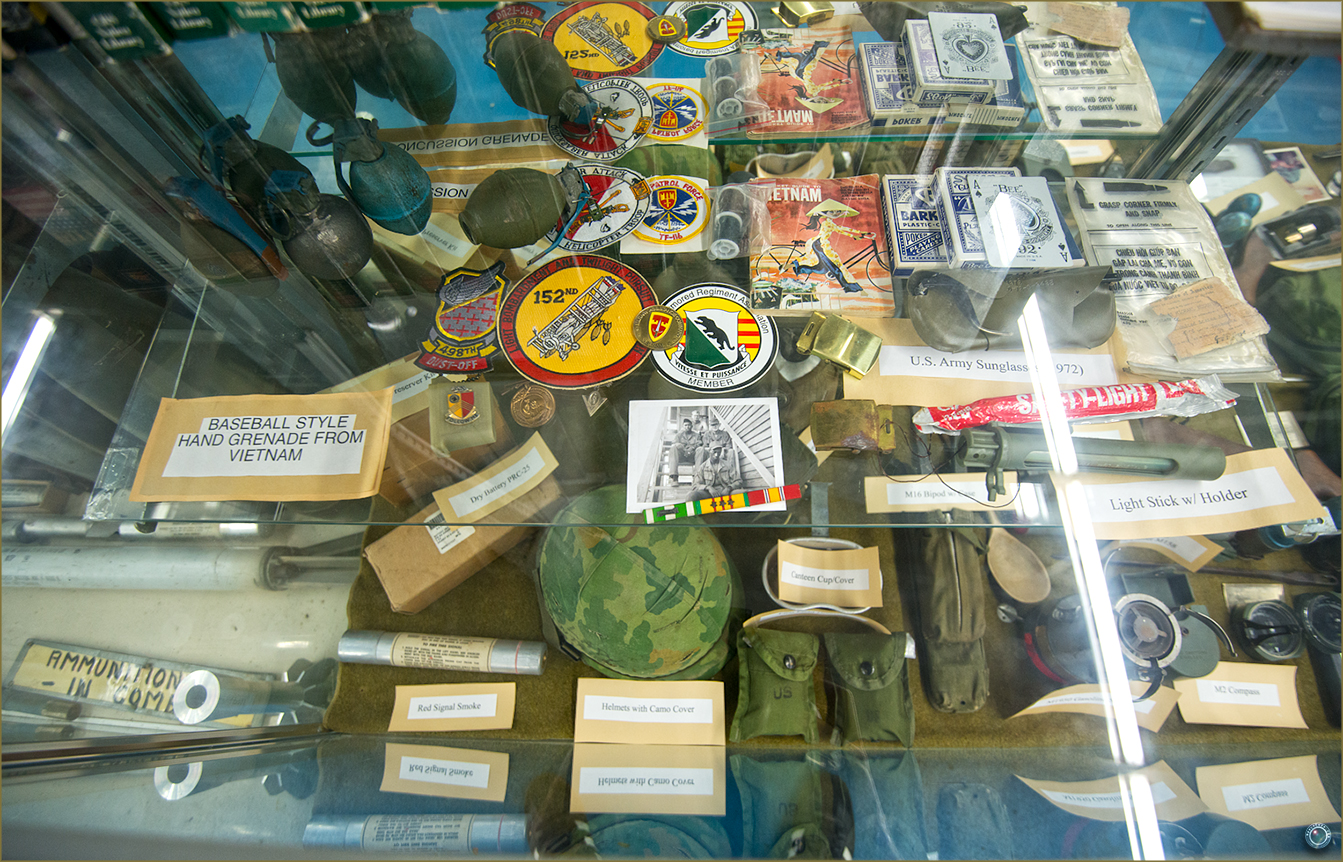 136 Russell Military Museum US Soldier Personal Belongings Vietnam War