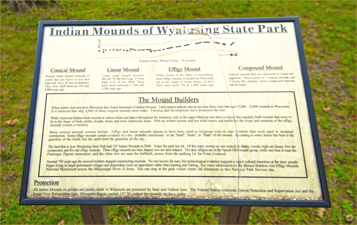 169 Wyalusing State Park Indian Mound Sign