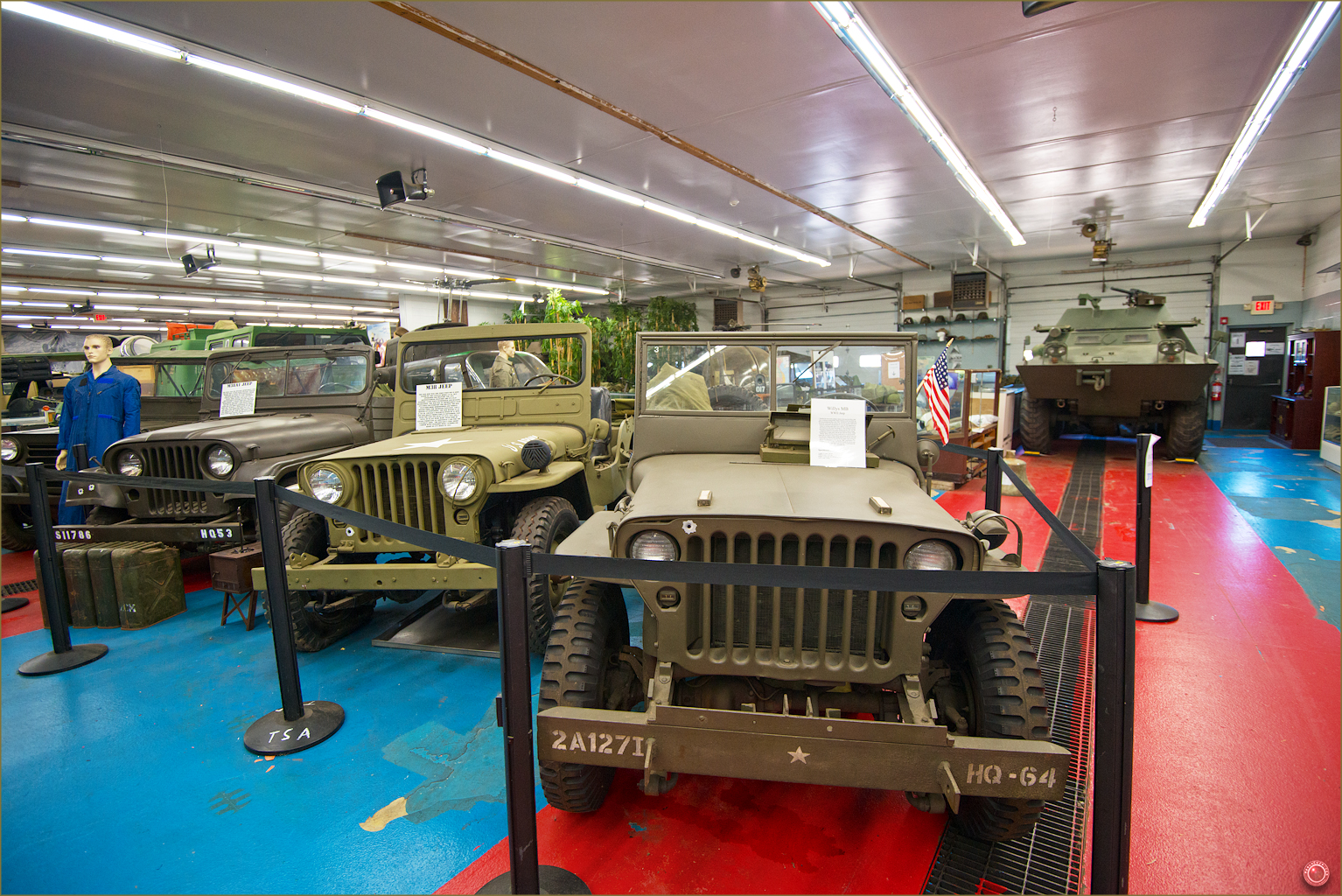 17 Russell Military Museum Willys MB WW II Jeep