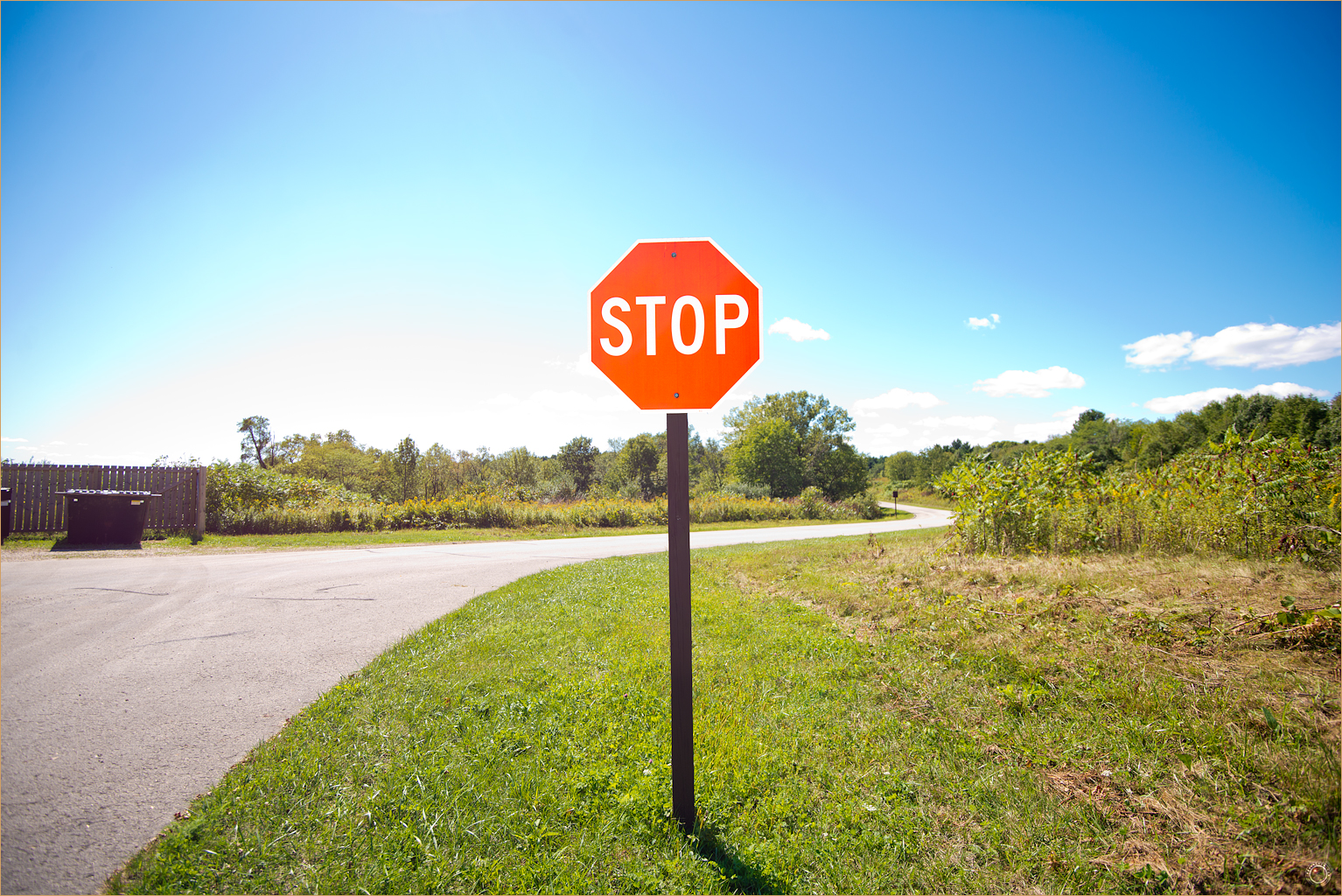 182 Wyalusing State Park Stop Sign