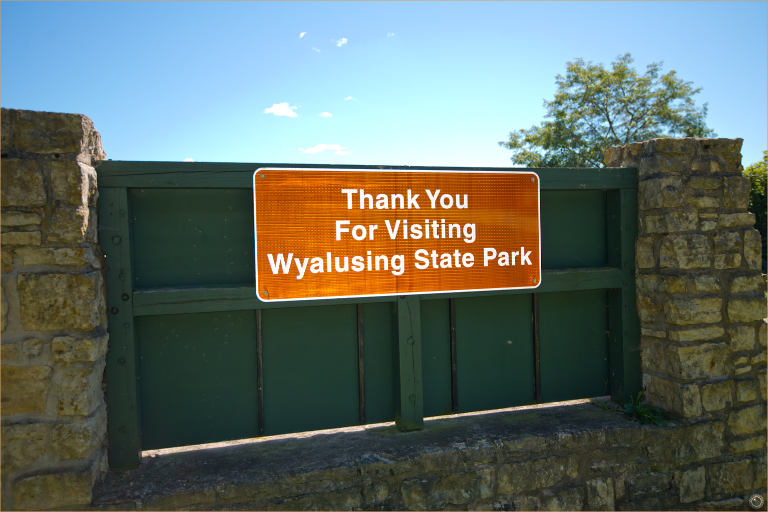 183 Wyalusing State Park Thank You For Visiting Sign