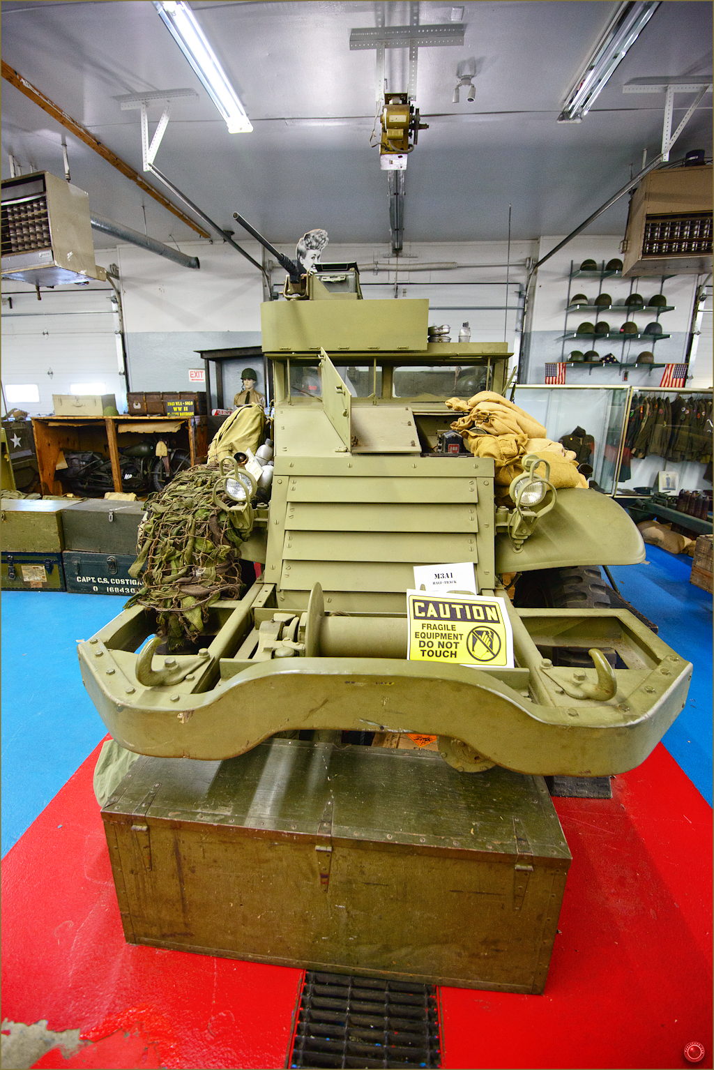 22 Russell Military Museum M3A1 Half-Track