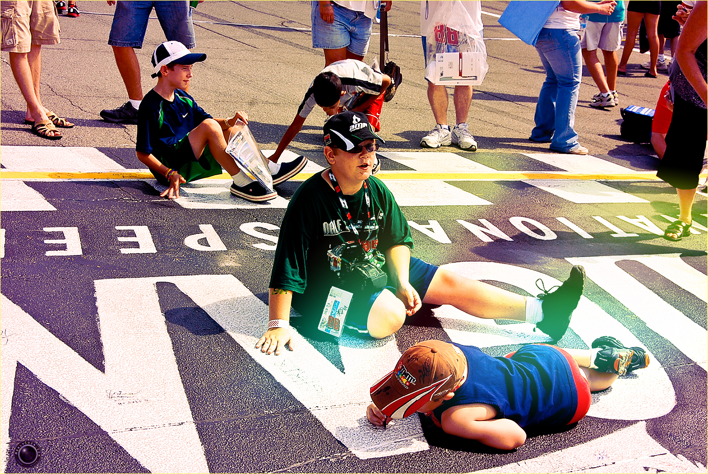 26 Nascar Kids Sign Track