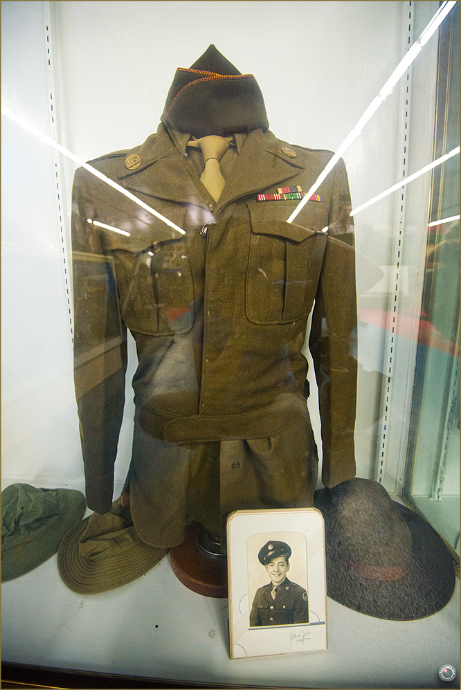 30 Russell Military Museum WW II Soldier Uniform and Photo