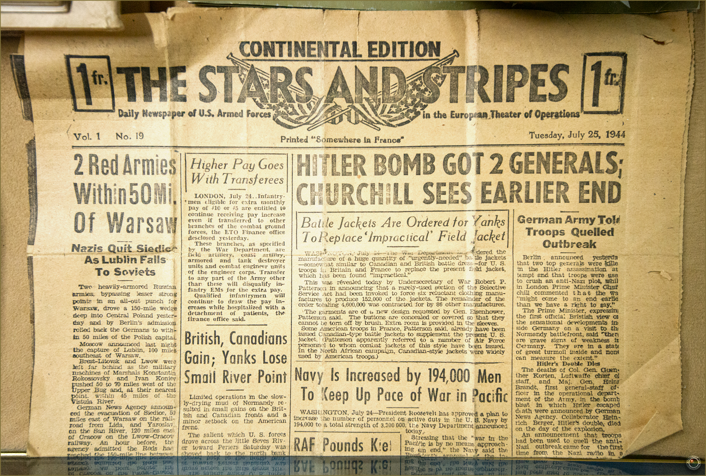 49 Russell Military Museum The Stars and Stripes Newspaper