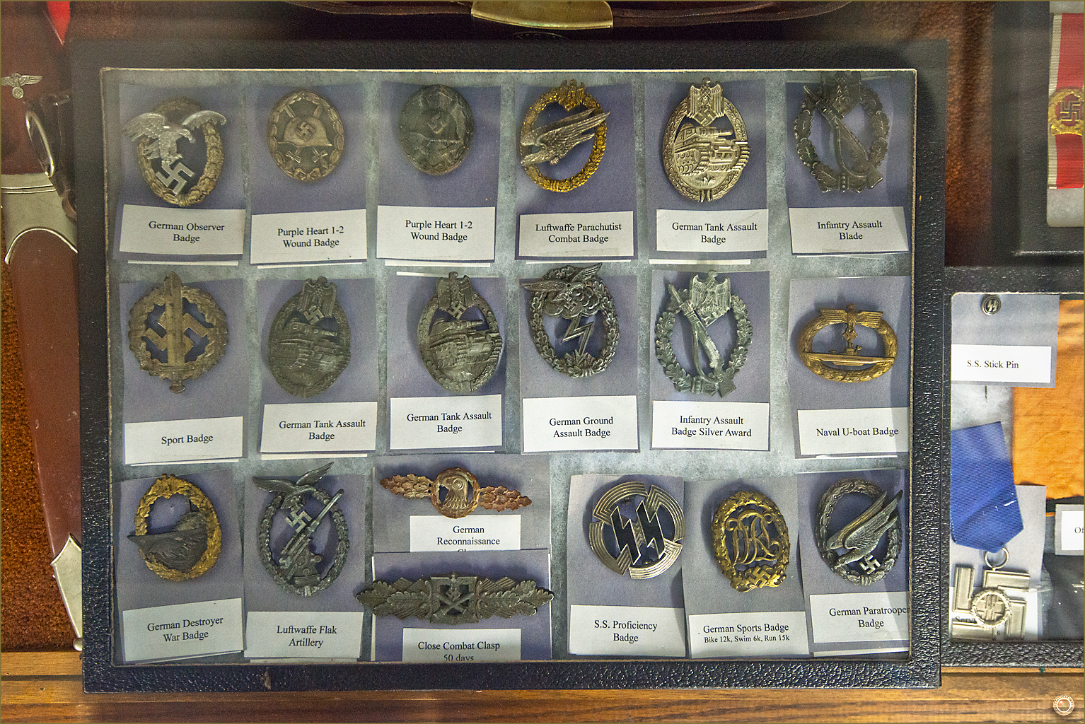 52 Russell Military Museum WW II German War Badges