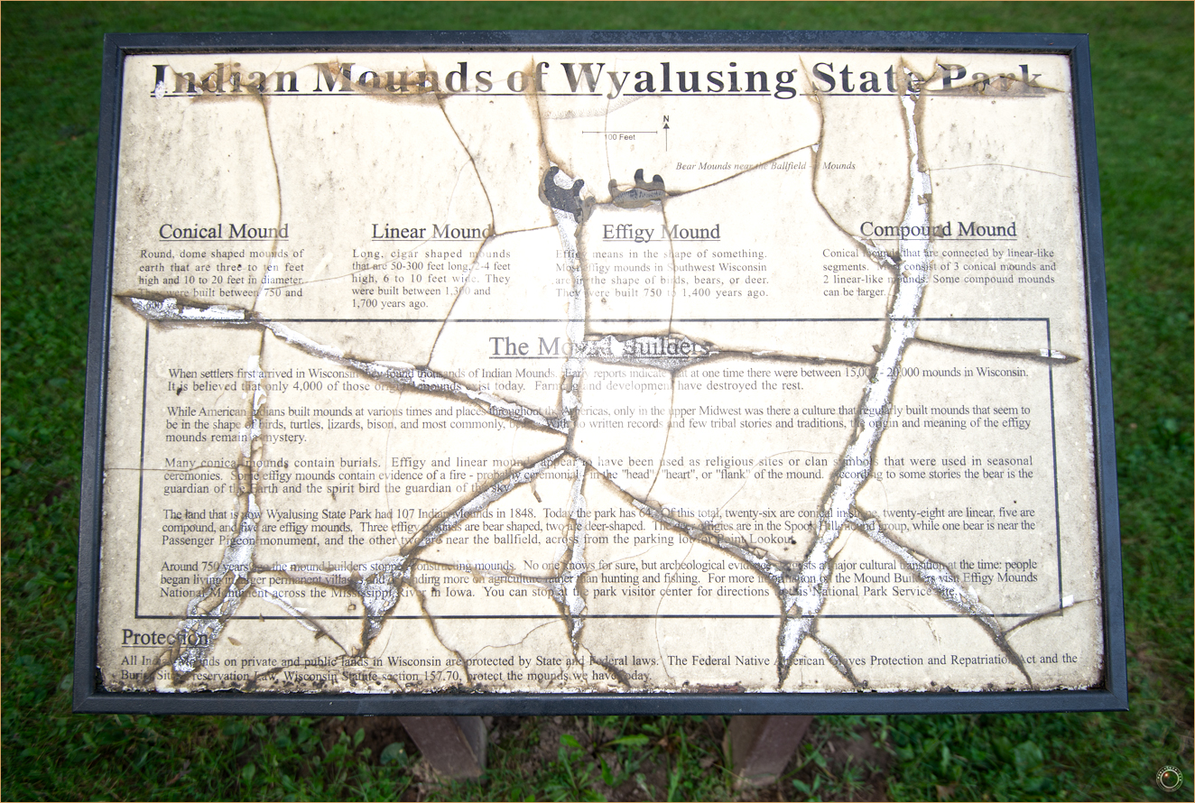 52 Wyalusing State Park Wisconsin Indian Mound Sign