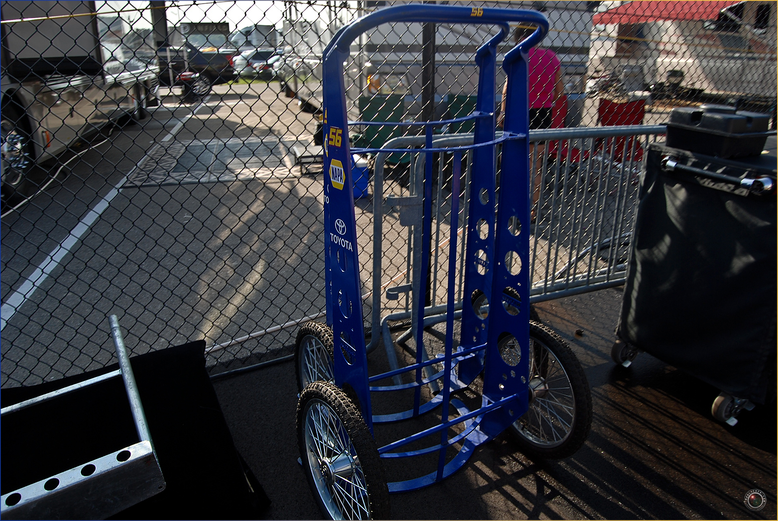 56 Nascar Tire Hand Cart
