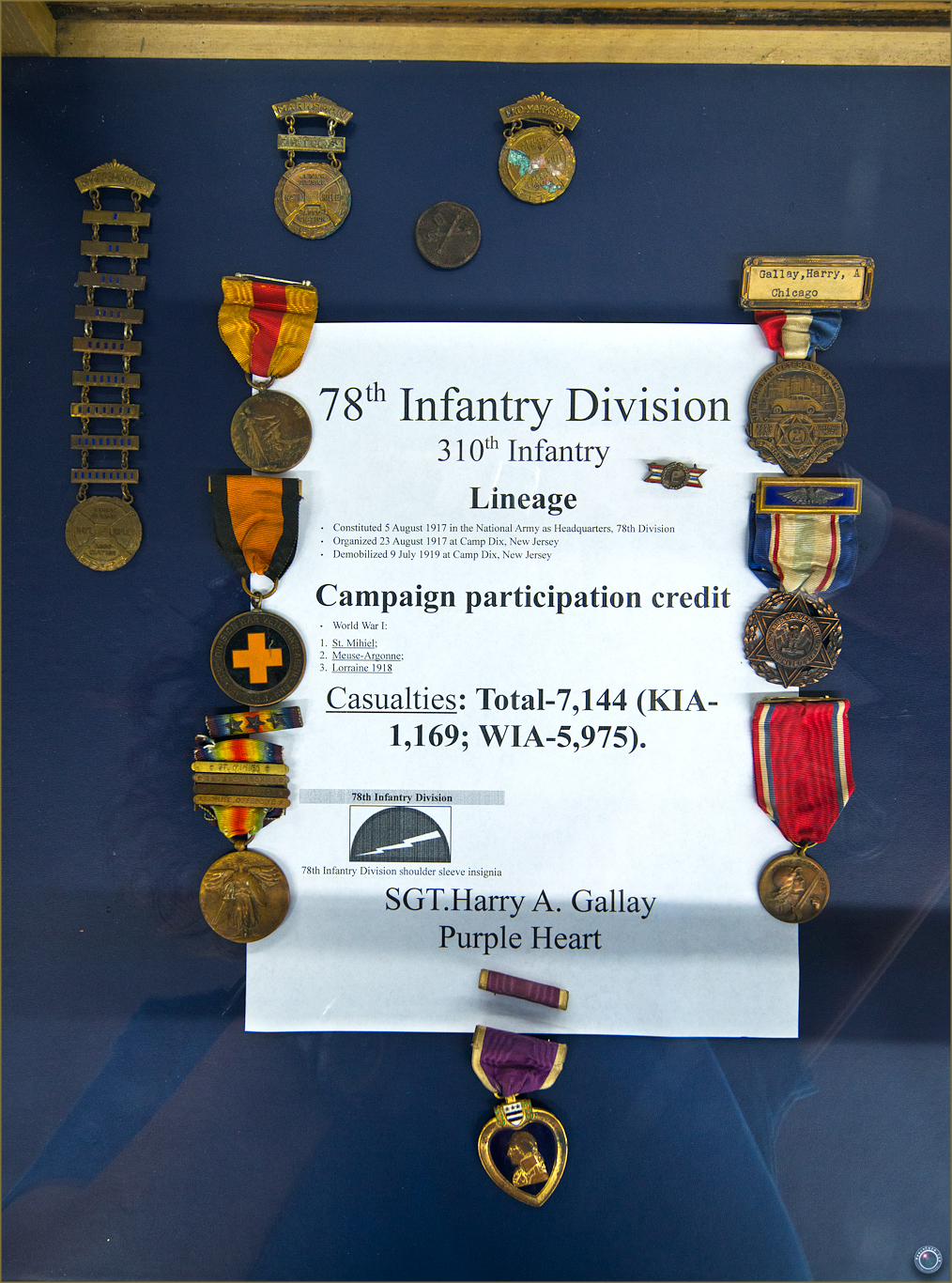 56 Russell Military Museum WW I War Medals