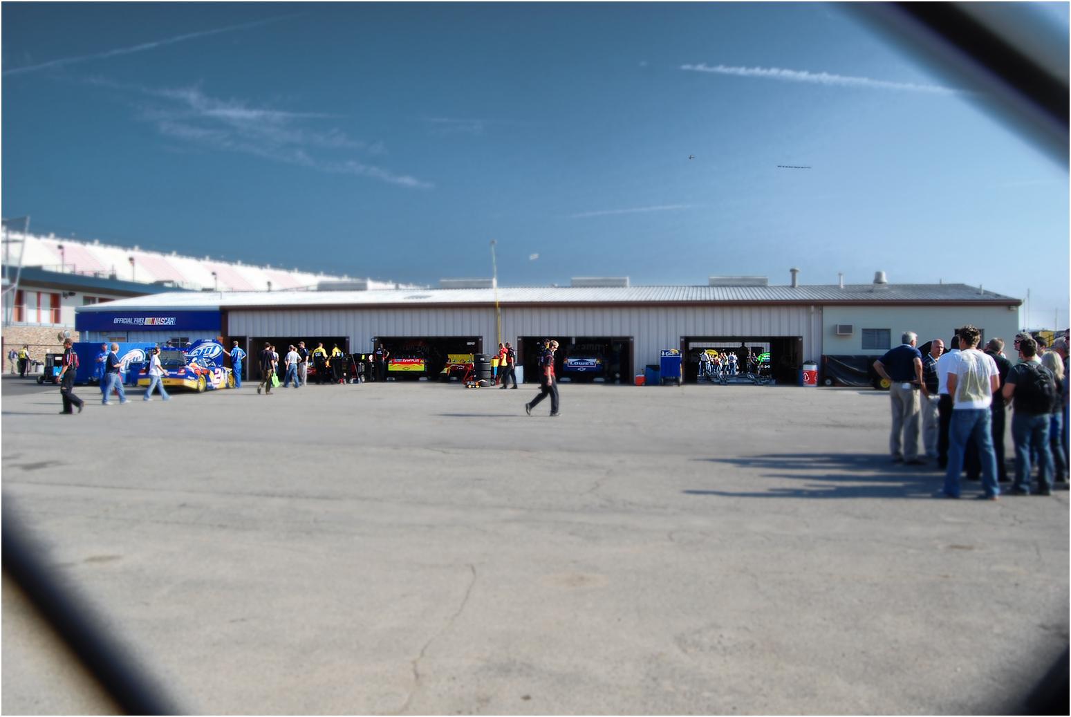 57 Nascar Garage at Track