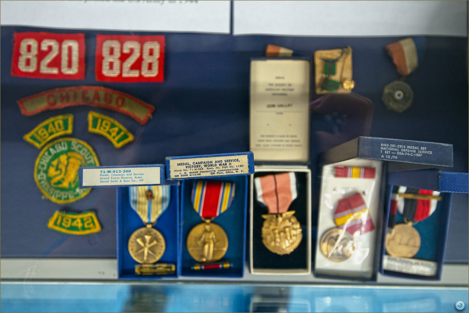 57 Russell Military Museum WW II Medal, Campaign and Service