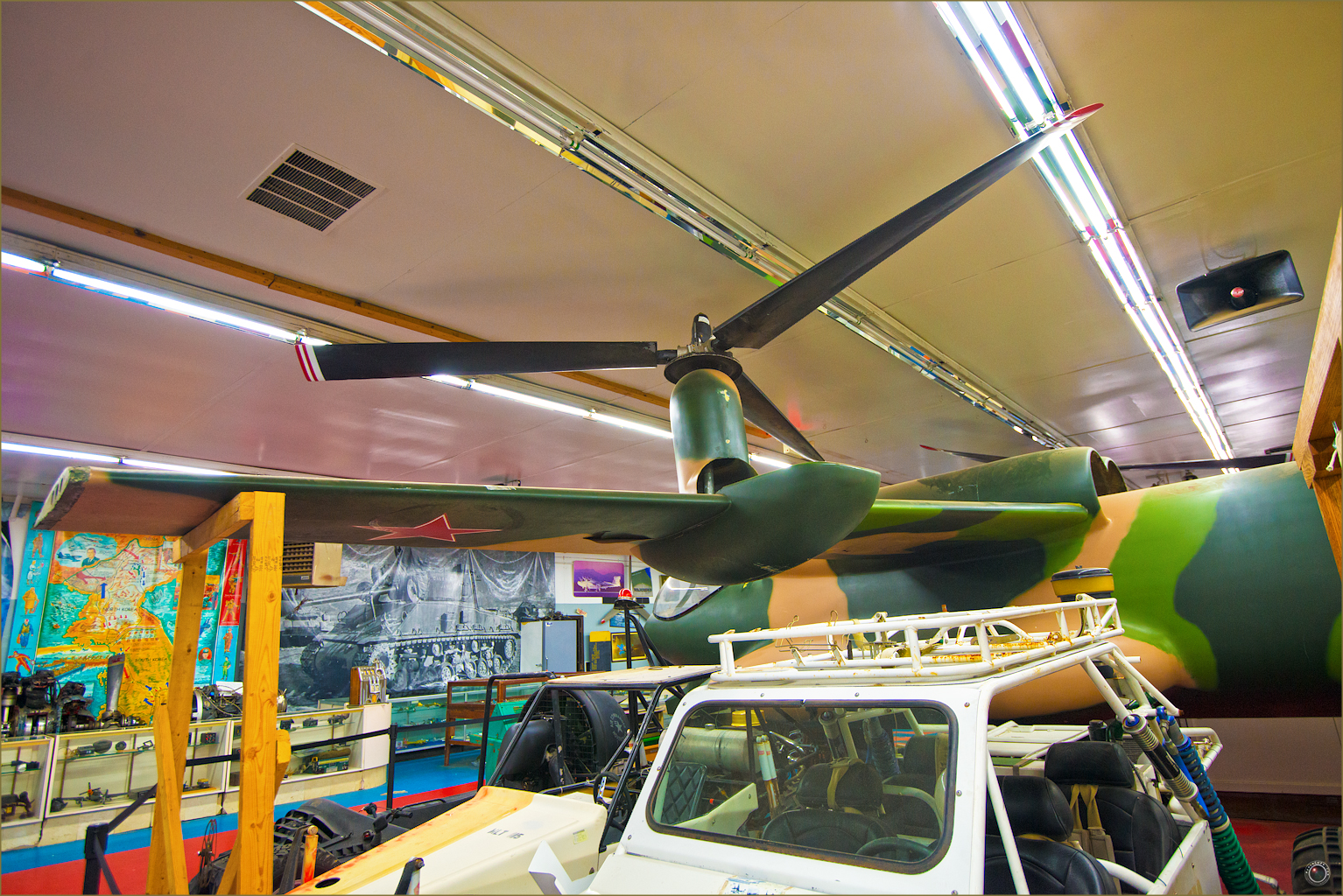 69 Russell Military Museum Antique Military Helicopter