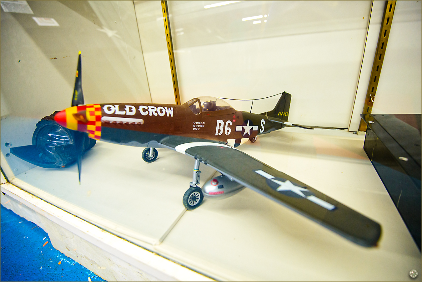 90 Russell Military Museum B6 Old Crow Model Airplane